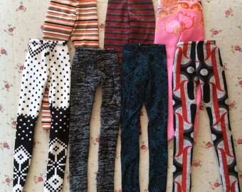 Lot of 5 Bjd leggings bjd tight MSD leggings Msd tight MSD stockings bjd outfit MSD outfit 1/4 bjd leggings.