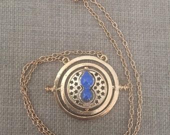 Harry Potter Time Turner Necklace (Blue sand)