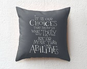 Harry Potter pillow case Albus Dumbledore quote, throw pillow cover decorative pillow cushion cover, graduation gift boyfriend gift for him