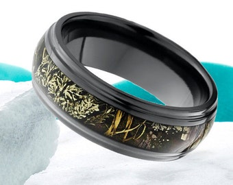 Camo wedding rings | Etsy