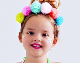 Pom Pom Baby Headband