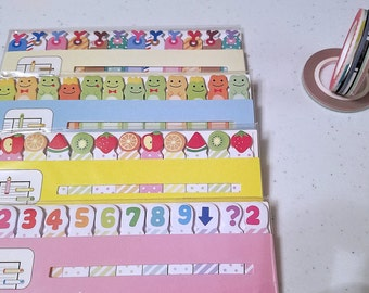 Sticky Notes - Memo Pad - 4 Packs of Slim Sticky Notes - Cute Sticky Notes, Page Tabs - Plus 4 Rolls of Skinny Tape - Sticky Note Set - STN1