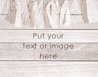 Styled Stock Photography / Wood Background / Styled Photography / Digital Background / Wood Background / Shabby / Burlap / StockStyle-735