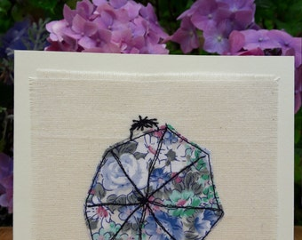 Hide and seek - hand embroidered greetings card