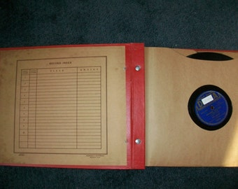 Vintage Record Album with 8 Records - Bing Crosby - 78 rpm - 1940s