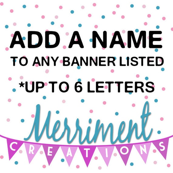 Add a Name to any listing (6 letters or less)