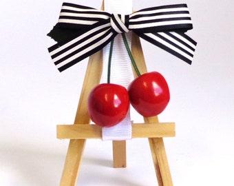 Rockabilly Cherry Hair Clip.