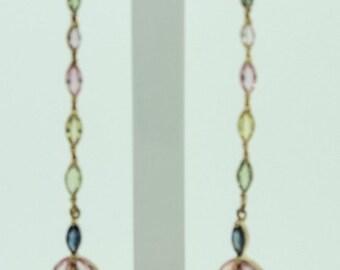 Marquise Multi Stone Earrings   SKU635