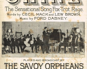 Shine.  By Cecile Mack, Lew Brown and Ford Dabney. 1924. Featured by The Savoy Orpheans at the Savoy Hotel, London