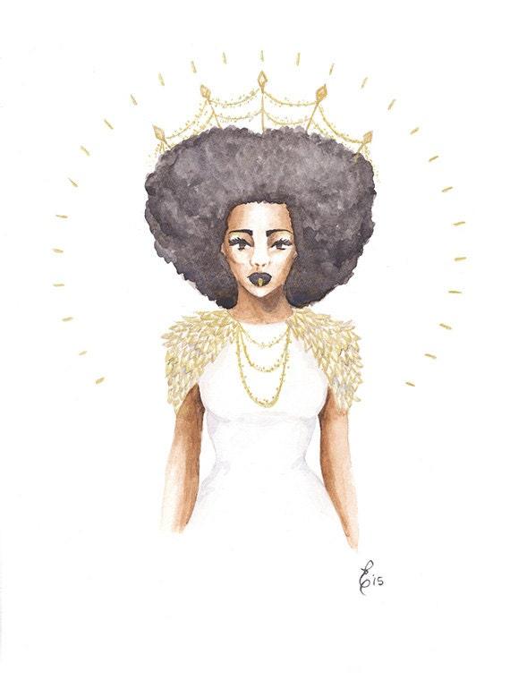 The Great Queen Violetta fashion illustration print