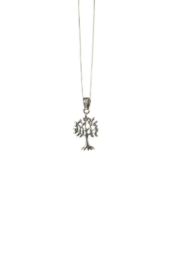 Sterling Silver Tree of Life Pendant Necklace Spiritual Jewellery Yogi Jewellery Handmade Free UK delivery