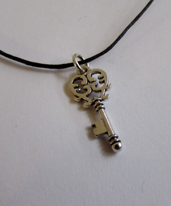 Key Charm On Wax Cord Adjustable Unisex Free UK Shipping + Gift Bag CH5