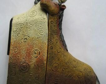 Vintage ceramic figures of horses.  2 pieces.
