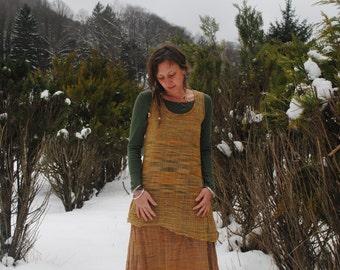 Khadi Dress, Dress of handwoven cotton, handspun cotton dress, short dress, short Khadi dress