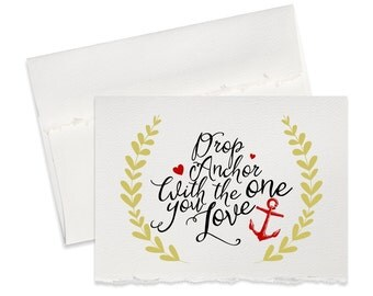 Drop anchor, military, anniversary card for boyfriend, navy cards husband, wife, girlfriend valentines day cards for him her, nautical
