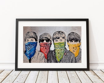 Bandidos  by Mr Brainwash Art Print