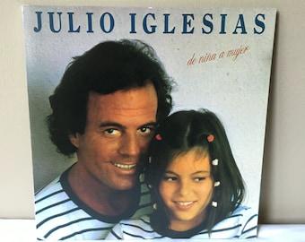 Julio Iglesias - De Niña a Mujer LP vintage record eighties 80s 1980s spanish music Isla En El Sol Volver A Empezar