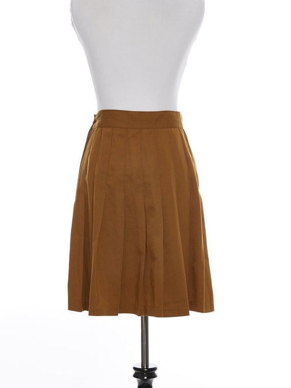 items similar to brown pleated school skirt size 9 on