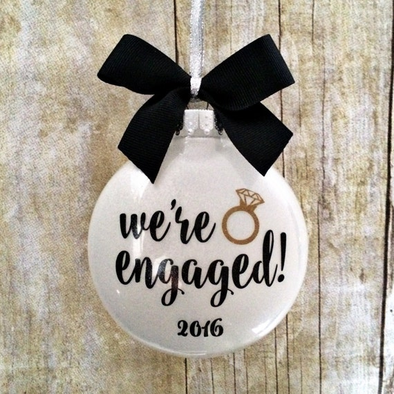 Ornament personalized engagement gift engagement christmas ornament
