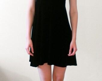 silk velvet cocktail dress /simple dress / formal dress / Anna Bulatova