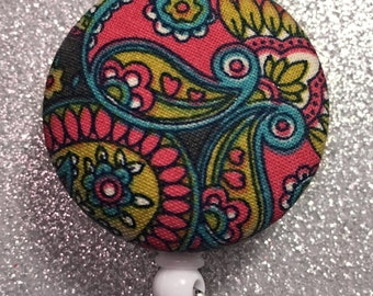 Paisley Retractable Badge Holder.