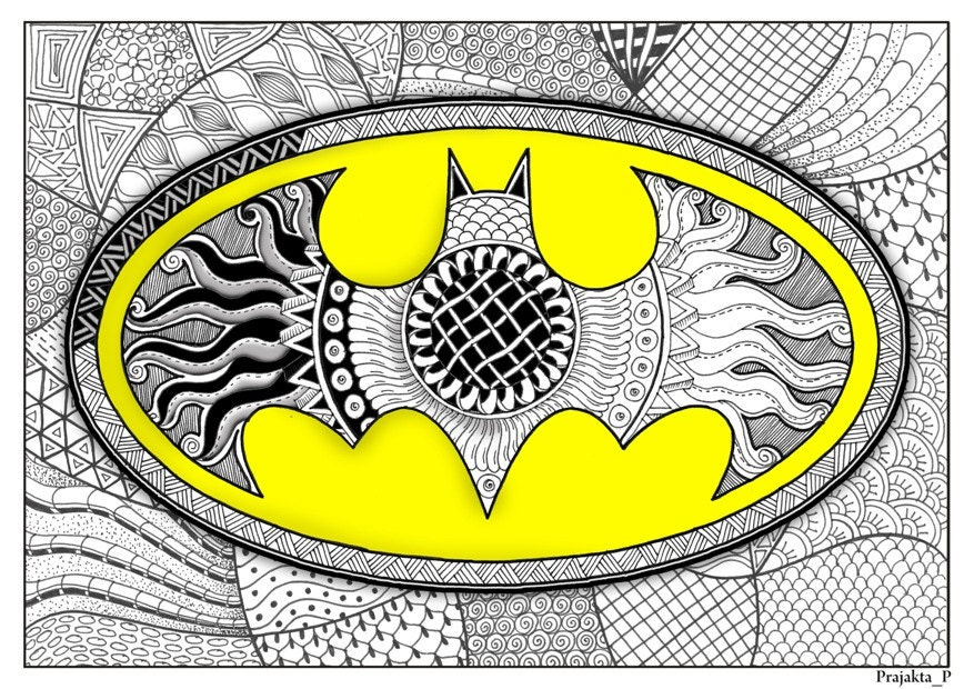 Adult coloring page Batman coloring