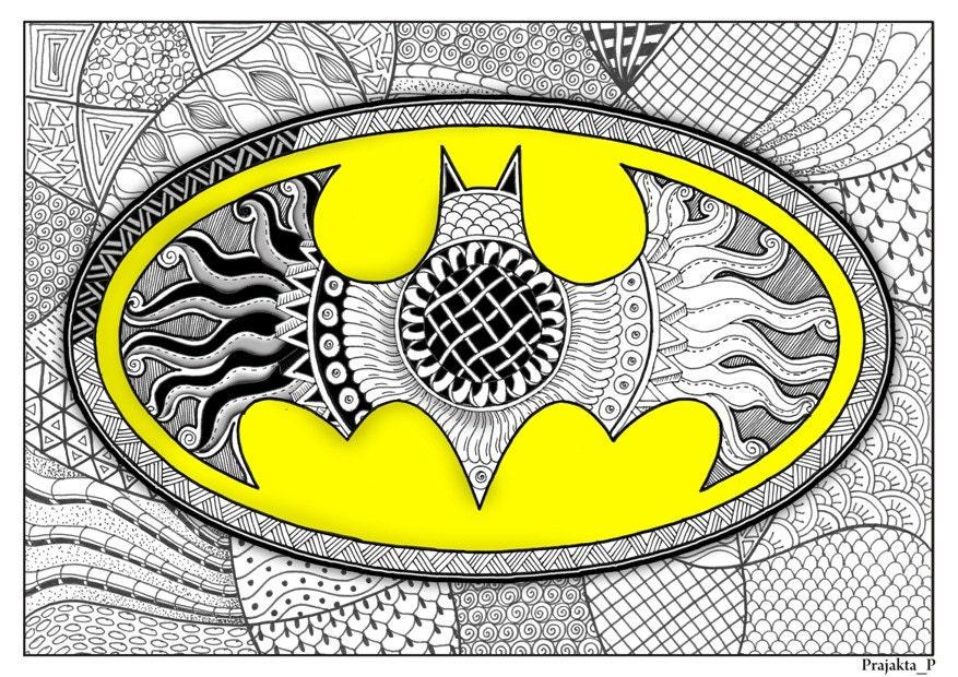 coloring page batman coloring page