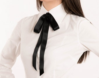 SALE 30% OFF: Alexa Silk Choker. Neck Ribbon necklace. Free international shipping. // Silk ribbon. Black silk scarf. Choker necklace