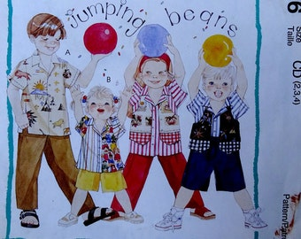McCalls 8076 sewing pattern for children's pants, shirt and vest size 2 thru 4