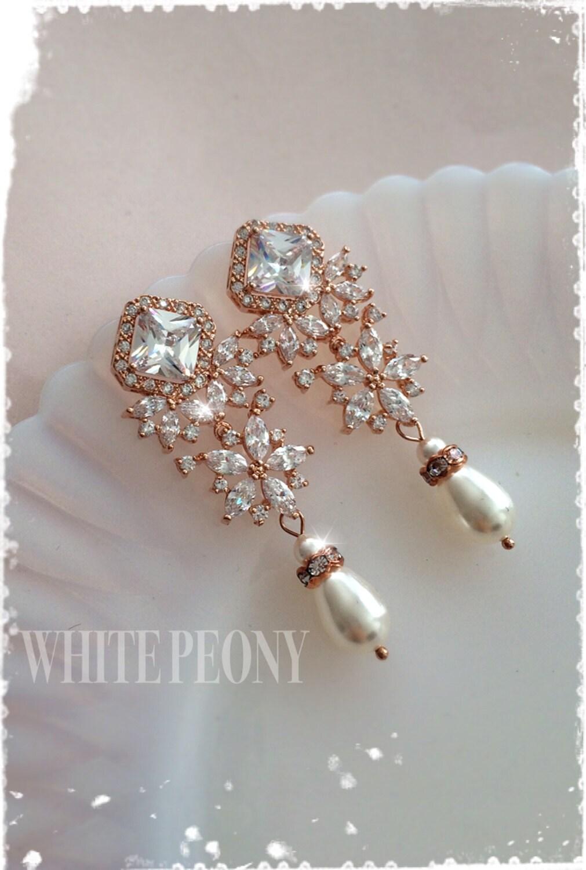 Luxury Art Deco Rose Gold Bridal Crystal Chandelier