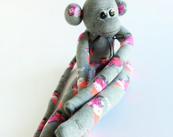 50% OFF-Sock Monkey-Gnome-Snowball-Fight-Handmade-Monkey-Plushie-Gnomes-Stuffed-Doll-Winter-Pink, Grey, White, Black, Purple-Novelty