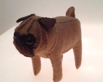 Felt Pug Dog - Small
