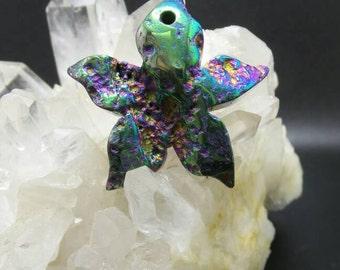 Titanium Druzy Starfish Pendant.
