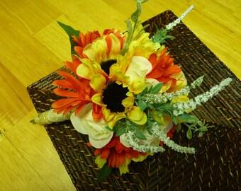 Sunflower & Rose Wedding bouquet