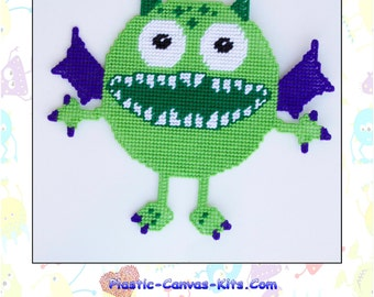 Green Monster Wall Hanging-PDF Download-Plastic Canvas Pattern
