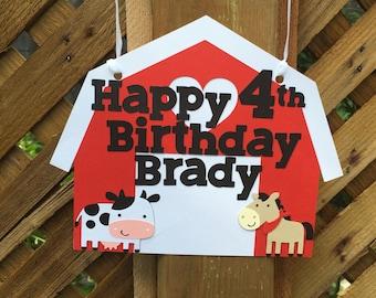 Farm Themed Birthday Sign   Farm Sign   Barnyard Birthday   Farm Party Decor   Farm Birthday Party   Barnyard Party Decor