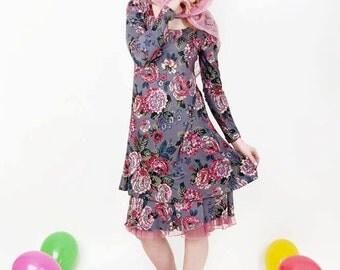 Floral print Jersey dress Gr.S