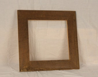 "Reclaimed Wood Picture Frame (13"" x 13"")"