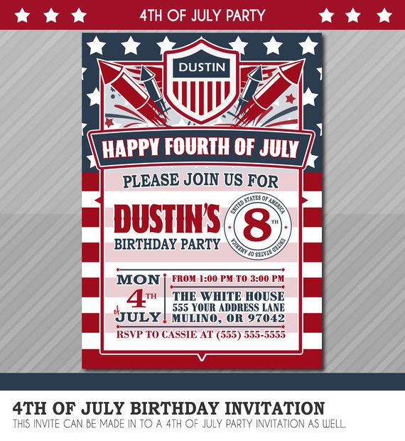 4th Of July Invitation Fourth By