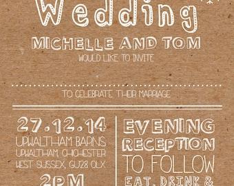 50 Christmas Snowflake Rustic Vintage Wedding Invitations!