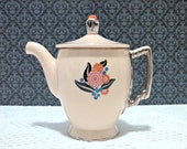 "Vintage Art Deco Leigh Ware ""Arosa"" Umbertone Demitasse Teapot by Leigh Potters, Moderne Shape, 2 Cup, Circa 1920s, RARE"