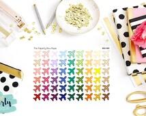 SKU-001// Airplane/Travel Sticker Set of 48 for Erin Condren Planner/Kikki K Planner