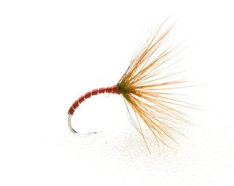 Fishing - Fly Fishing Flies - Red Quill Sakasa Kebari Tenkara Flies |  (3 flies) | Trout fishing flies