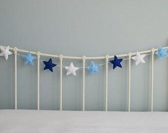 Star Garland - felt star garland - star bunting - felt star garland - star - children's decor - nursery decor - handmade - MADE TO ORDER