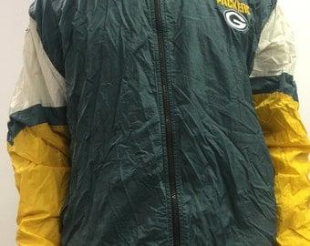 Green Bay Packers NFL Pro Line by Champion Vintage Windbreaker XL
