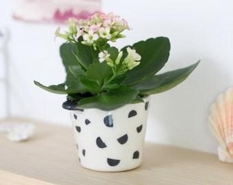 """Ceramic pot """"half moons"""