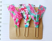 Set of 3 Lilly Pulitzer Ribbon Paper Clips - First Impression, Lobstah Roll and Rock My Boat - Great for Planners, Notebooks, Bookmarks, etc