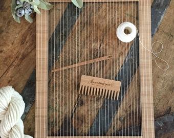 Large Bamboo Weaving Loom 29.5cm x 40cm (11.6inch x 15.7inch)