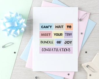 New Baby Card | New Parents | Newborn | New Arrival | Congratulations | Baby Shower | Blank | SE0114A6