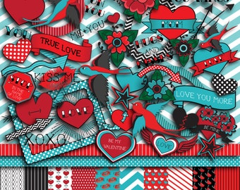 Tattoo Love Scrapbooking Kit